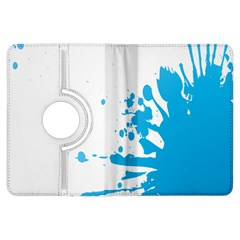 Blue Stain Spot Paint Kindle Fire Hdx Flip 360 Case by Mariart
