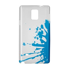 Blue Stain Spot Paint Samsung Galaxy Note 4 Hardshell Case