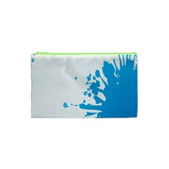 Blue Stain Spot Paint Cosmetic Bag (xs) by Mariart