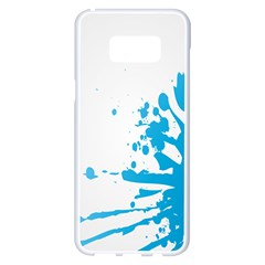 Blue Stain Spot Paint Samsung Galaxy S8 Plus White Seamless Case by Mariart