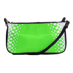 Bubble Polka Circle Green Shoulder Clutch Bags by Mariart