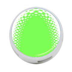 Bubble Polka Circle Green 4 Port Usb Hub (two Sides)  by Mariart