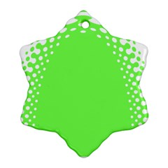 Bubble Polka Circle Green Ornament (snowflake) by Mariart