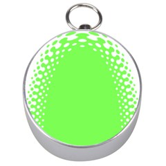 Bubble Polka Circle Green Silver Compasses by Mariart