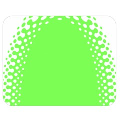 Bubble Polka Circle Green Double Sided Flano Blanket (medium)  by Mariart