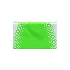 Bubble Polka Circle Green Cosmetic Bag (xs) by Mariart