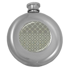 Circles Grey Polka Round Hip Flask (5 Oz) by Mariart