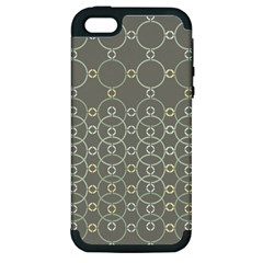 Circles Grey Polka Apple Iphone 5 Hardshell Case (pc+silicone) by Mariart