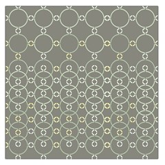 Circles Grey Polka Large Satin Scarf (square) by Mariart