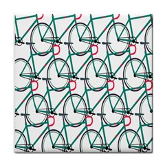 Bicycle Cycling Bike Green Sport Tile Coasters by Mariart