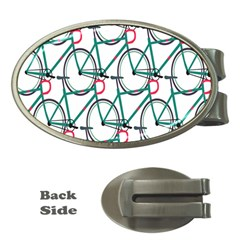 Bicycle Cycling Bike Green Sport Money Clips (oval)  by Mariart