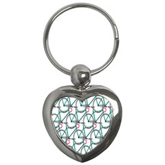 Bicycle Cycling Bike Green Sport Key Chains (heart)  by Mariart