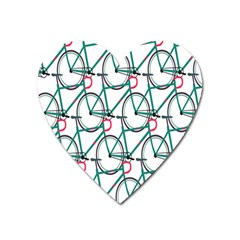 Bicycle Cycling Bike Green Sport Heart Magnet by Mariart