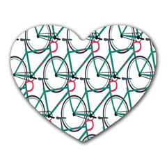Bicycle Cycling Bike Green Sport Heart Mousepads by Mariart