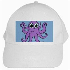 Colorful Cartoon Octopuses Pattern Fear Animals Sea Purple White Cap by Mariart