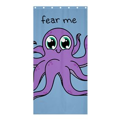 Colorful Cartoon Octopuses Pattern Fear Animals Sea Purple Shower Curtain 36  X 72  (stall)  by Mariart