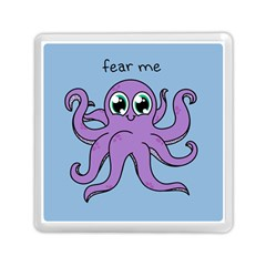 Colorful Cartoon Octopuses Pattern Fear Animals Sea Purple Memory Card Reader (square)  by Mariart