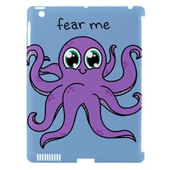 Colorful Cartoon Octopuses Pattern Fear Animals Sea Purple Apple Ipad 3/4 Hardshell Case (compatible With Smart Cover) by Mariart