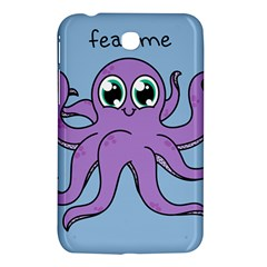 Colorful Cartoon Octopuses Pattern Fear Animals Sea Purple Samsung Galaxy Tab 3 (7 ) P3200 Hardshell Case  by Mariart