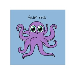 Colorful Cartoon Octopuses Pattern Fear Animals Sea Purple Small Satin Scarf (square) by Mariart