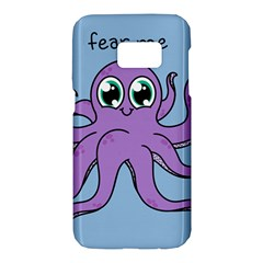 Colorful Cartoon Octopuses Pattern Fear Animals Sea Purple Samsung Galaxy S7 Hardshell Case  by Mariart