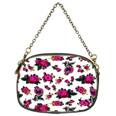 Crown Red Flower Floral Calm Rose Sunflower White Chain Purses (one Side)  by Mariart