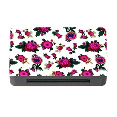 Crown Red Flower Floral Calm Rose Sunflower White Memory Card Reader With Cf by Mariart