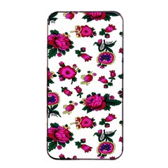 Crown Red Flower Floral Calm Rose Sunflower White Apple Iphone 4/4s Seamless Case (black) by Mariart