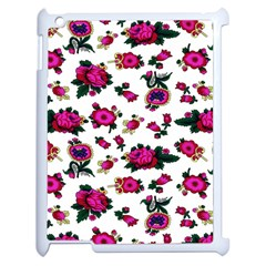 Crown Red Flower Floral Calm Rose Sunflower White Apple Ipad 2 Case (white) by Mariart