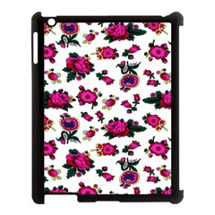 Crown Red Flower Floral Calm Rose Sunflower White Apple Ipad 3/4 Case (black) by Mariart