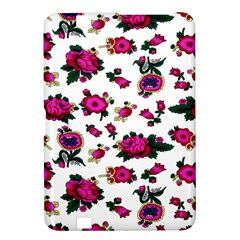 Crown Red Flower Floral Calm Rose Sunflower White Kindle Fire Hd 8 9  by Mariart