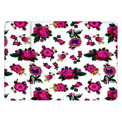 Crown Red Flower Floral Calm Rose Sunflower White Samsung Galaxy Tab 8 9  P7300 Flip Case by Mariart