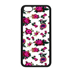 Crown Red Flower Floral Calm Rose Sunflower White Apple Iphone 5c Seamless Case (black) by Mariart