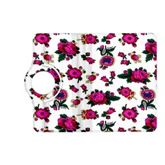 Crown Red Flower Floral Calm Rose Sunflower White Kindle Fire Hd (2013) Flip 360 Case by Mariart