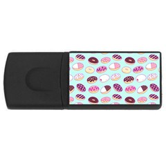 Donut Jelly Bread Sweet Usb Flash Drive Rectangular (4 Gb) by Mariart