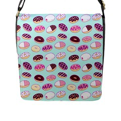 Donut Jelly Bread Sweet Flap Messenger Bag (l)  by Mariart