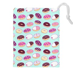 Donut Jelly Bread Sweet Drawstring Pouches (xxl) by Mariart