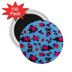 Crown Red Flower Floral Calm Rose Sunflower 2 25  Magnets (100 Pack)  by Mariart