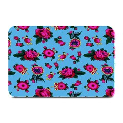 Crown Red Flower Floral Calm Rose Sunflower Plate Mats by Mariart