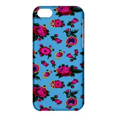 Crown Red Flower Floral Calm Rose Sunflower Apple Iphone 5c Hardshell Case by Mariart