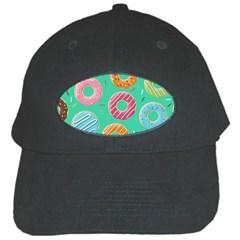 Doughnut Bread Donuts Green Black Cap by Mariart