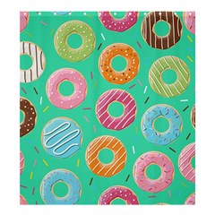 Doughnut Bread Donuts Green Shower Curtain 66  X 72  (large)  by Mariart