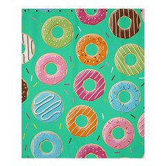 Doughnut Bread Donuts Green Shower Curtain 60  X 72  (medium)  by Mariart