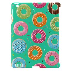 Doughnut Bread Donuts Green Apple Ipad 3/4 Hardshell Case (compatible With Smart Cover) by Mariart
