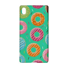 Doughnut Bread Donuts Green Sony Xperia Z3+ by Mariart