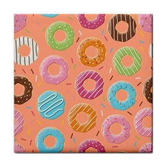 Doughnut Bread Donuts Orange Face Towel by Mariart