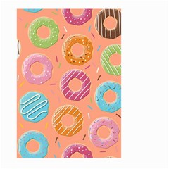 Doughnut Bread Donuts Orange Large Garden Flag (two Sides) by Mariart