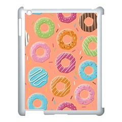 Doughnut Bread Donuts Orange Apple Ipad 3/4 Case (white) by Mariart