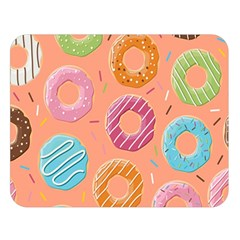 Doughnut Bread Donuts Orange Double Sided Flano Blanket (large)  by Mariart