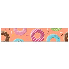 Doughnut Bread Donuts Orange Flano Scarf (small) by Mariart